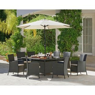 Buy Bali 8 Seater Rattan Effect Patio Furniture Set Brown At Argos Co Uk Your Online Shop For Garden Tab Patio Furniture Sets Patio Garden Table And Chairs
