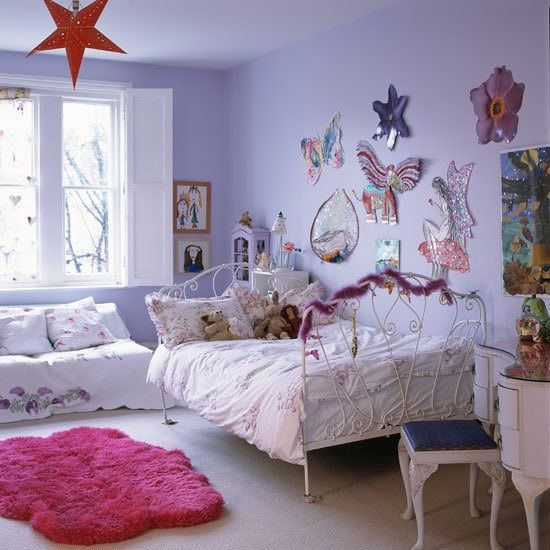 10 dormitorios para chicas en color lila decoration - Cortinas para habitacion juvenil ...
