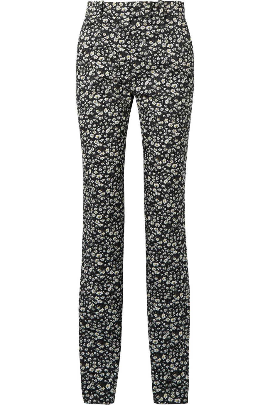 Striped Floral-print Cotton-twill Skinny Pants - Black CALVIN KLEIN 205W39NYC Free Shipping Inexpensive Safe Payment Outlet With Paypal Order Online For Cheap Discount Cheap Purchase xK8AK0A2VW