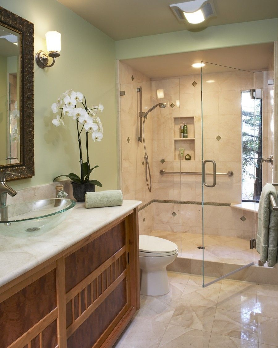 Light green bathroom paint - Bathroom Great Picture Of Bathroom Decoration Using White Orchid Flower Bathroom Decor Including Bathroom