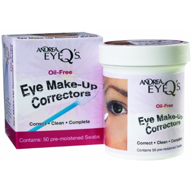 Andrea Eyeqs Oil Free Eye Make Up Correctors Pre Moistened Swabs