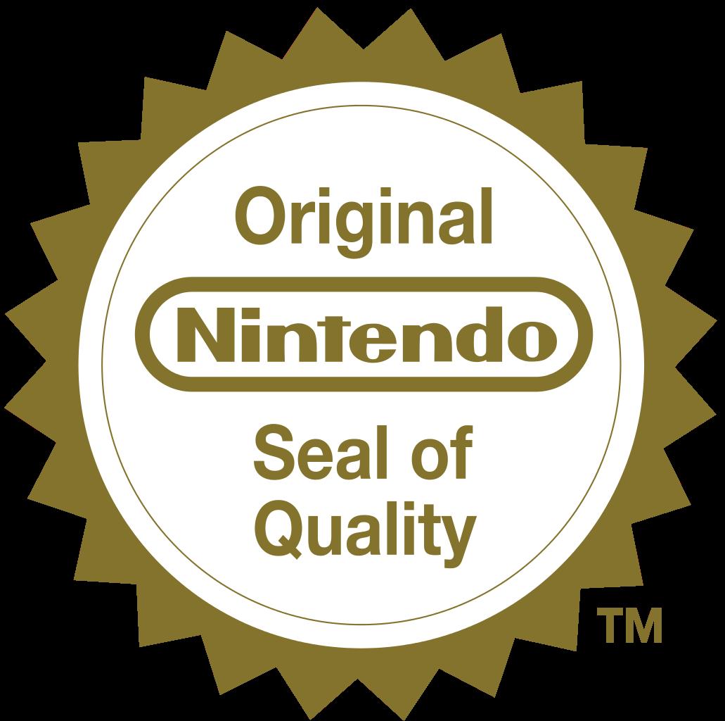Original Nintendo Seal Of Quality Emblem Jogos Eletronicos Eletronicos