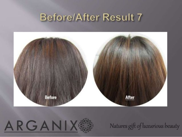 Moroccan argan hair oil before after images - arganix