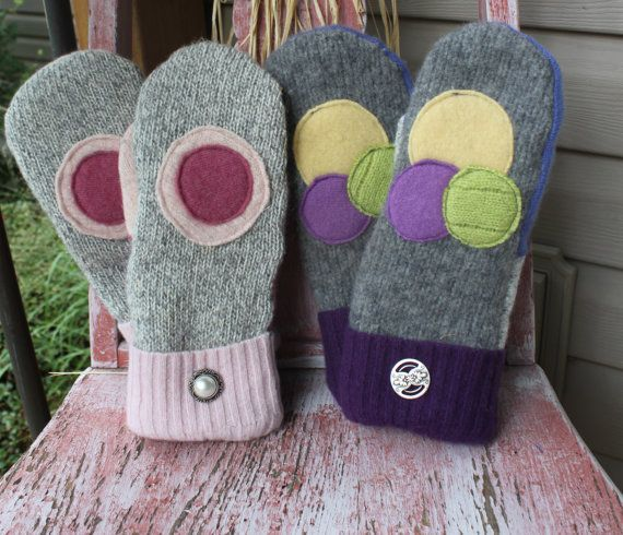 Recycled Wool Sweater Mittens Inspiration Pinterest Mittens