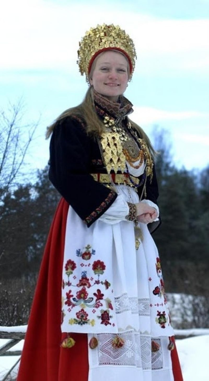 Bridal Costume From East Telemark Norway Wonder If My Great Grandma Wore This Traditional Outfit