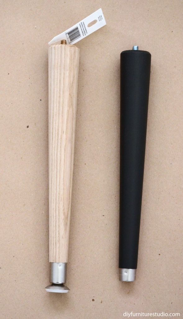 furniture leg makeover waddell brand table leg black mid century modern tapered legs. Black Bedroom Furniture Sets. Home Design Ideas