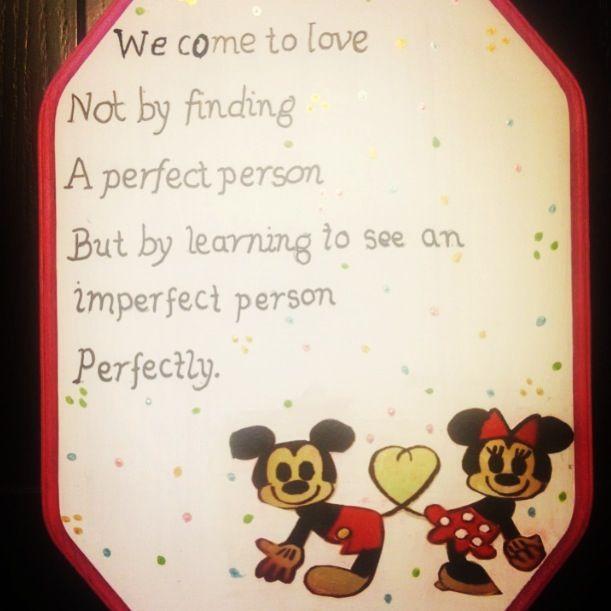 Minnie U0026 Mickey Love Quote Plaque