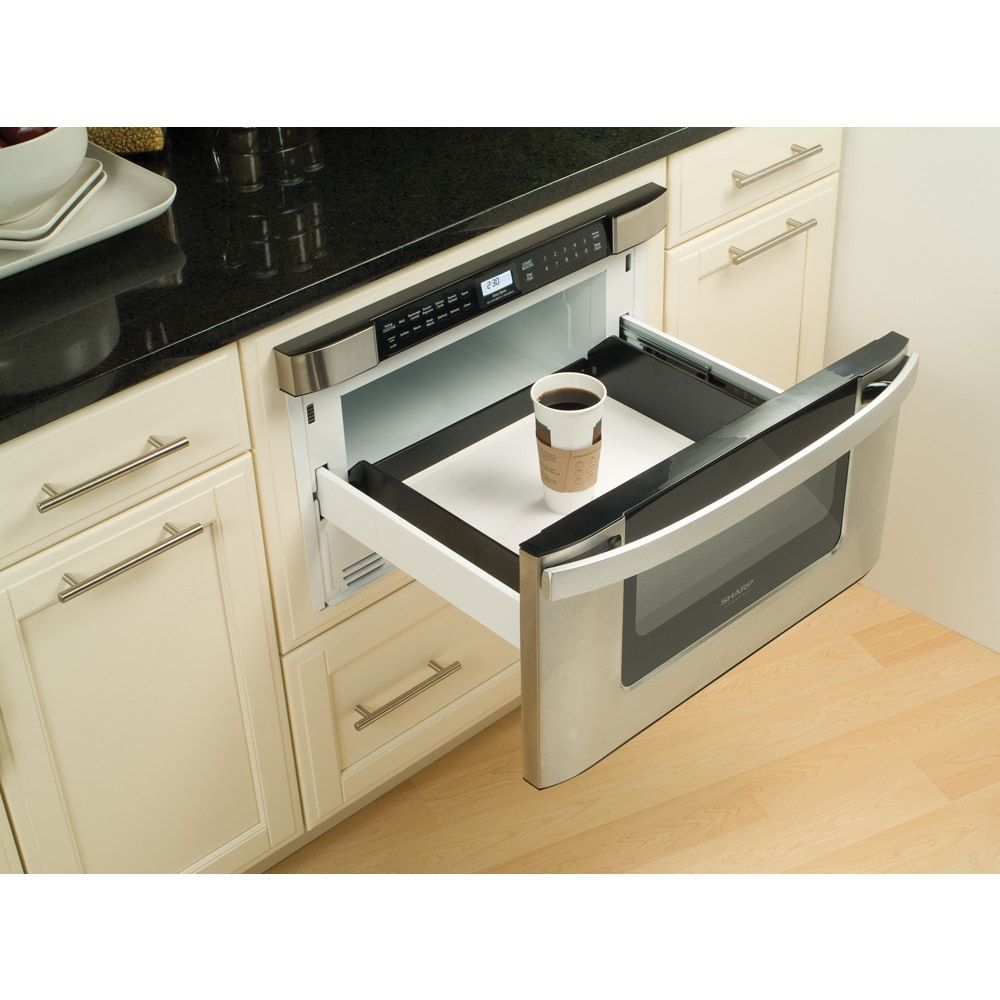Kitchen Cabinet Ideas For Microwave: Built-In Microwave Drawer Stainless Cabinet Kitchen Cook