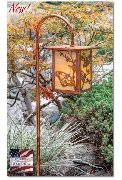 Butterfly Garden Lantern Curved Arm - LED – Welcome to Yardify