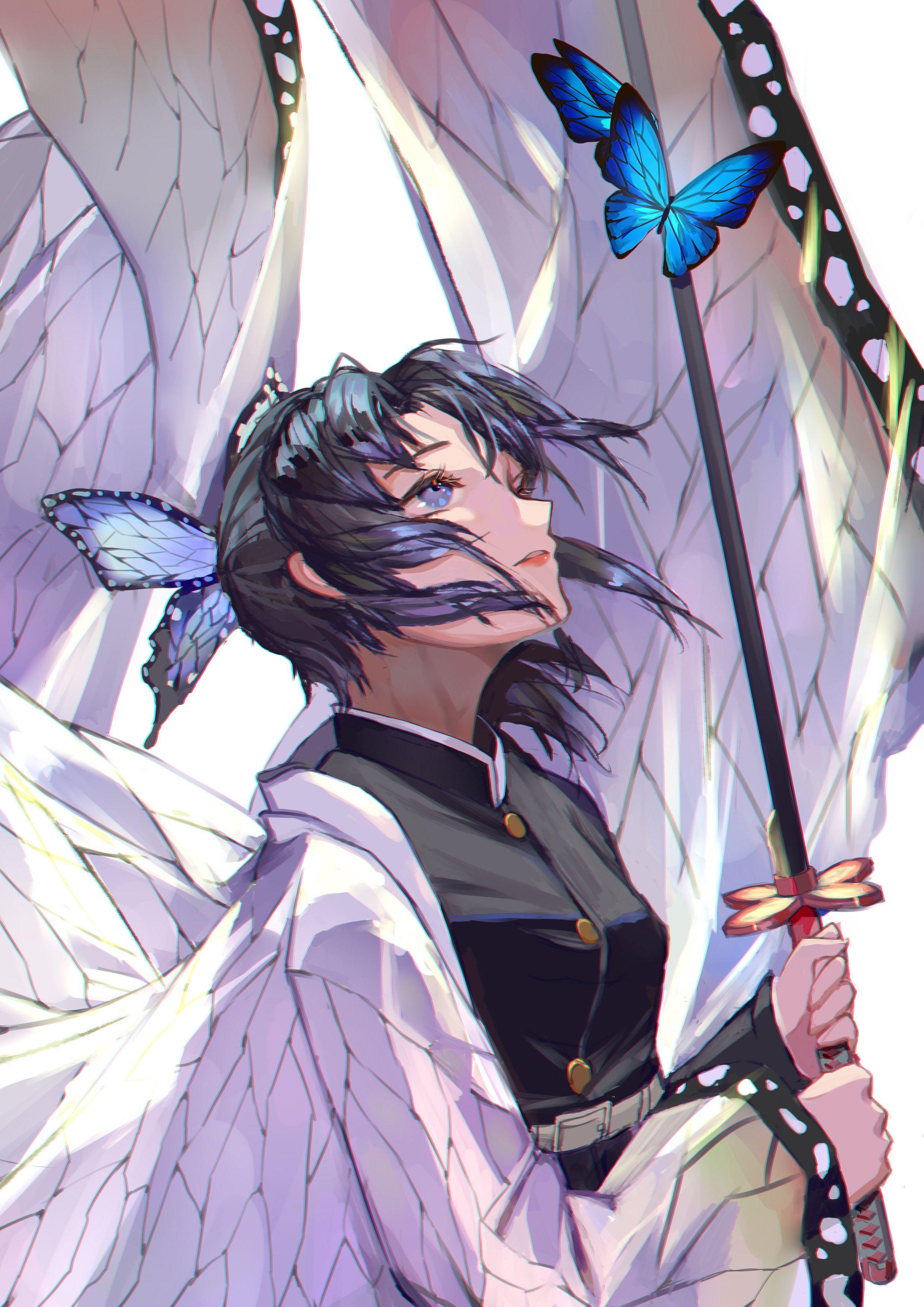 15 胡蝶しのぶ Anime demon, Slayer anime, Anime art