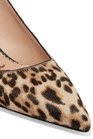 7729e961dbc Sam Edelman - Ludlow Leopard-print Calf Hair Pumps - Sand