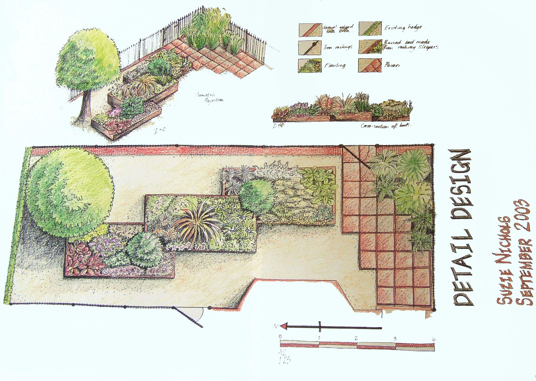 16 simple garden design plans ideas small garden design for Easy to care for garden designs