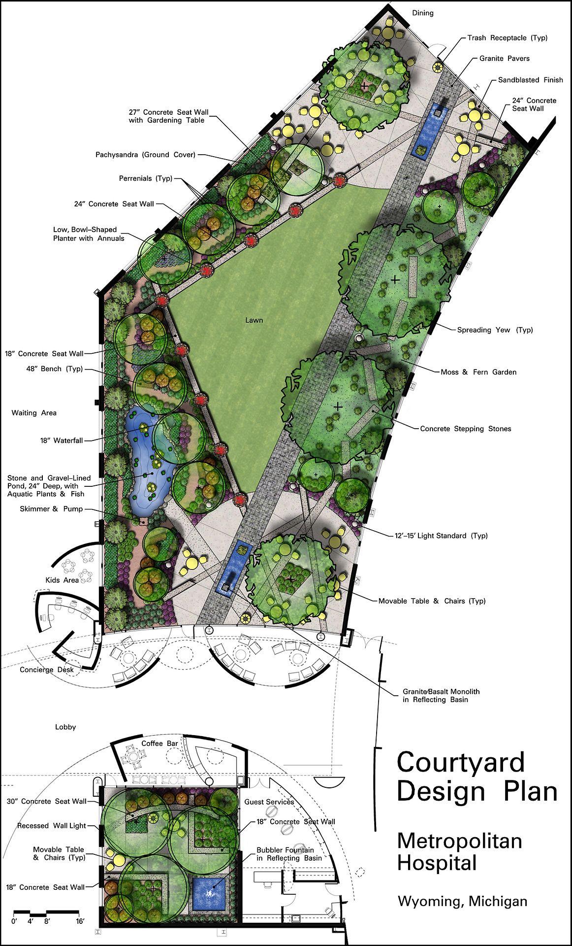 Pin By Ada Bingol On Landscape Architecture Courtyard Design Landscape Design Landscape Design Plans