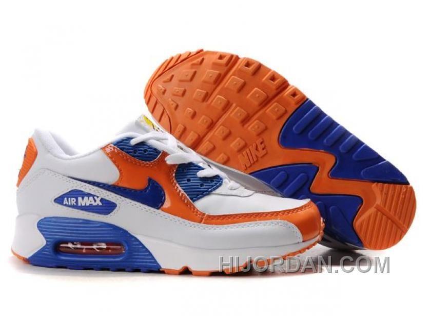 Air Max 90 White Orange Blue
