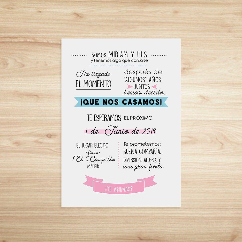 Wedding Invitation. Invitación de Bodas. Printable Wedding. Invitación boda  imprimible. #bodas #invitacionesdeboda #wed… | Wedding invitations,  Invitations, Wedding