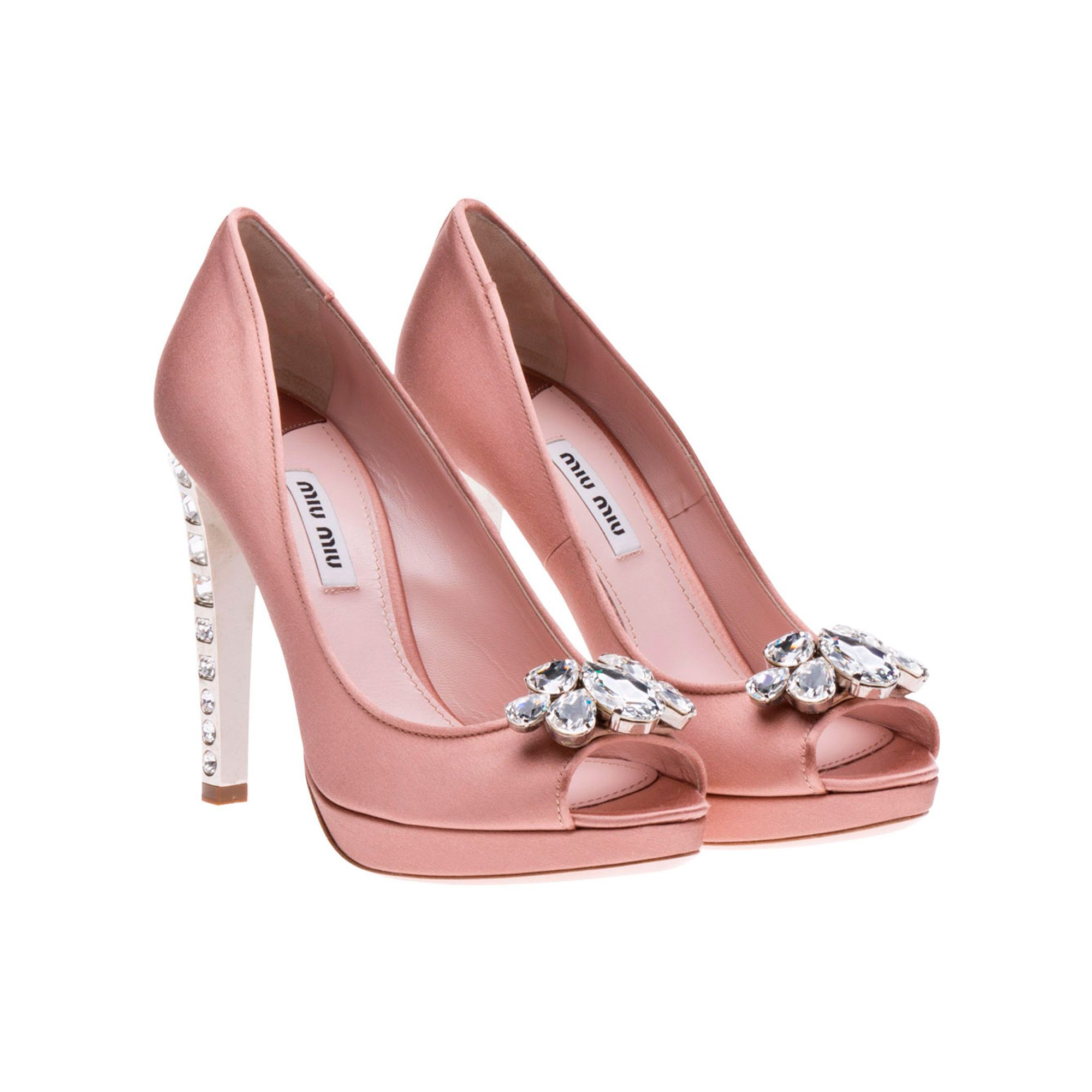 Miu P Toe Platform Pumps They Have Jeweled Heels