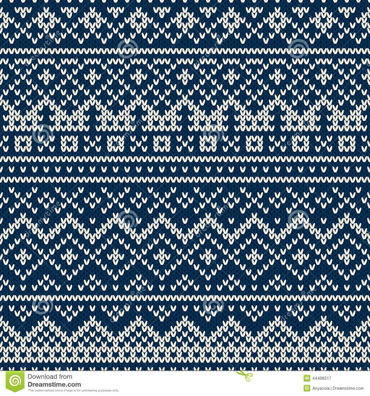 Knitted seamless pattern in Fair Isle style | Knitting | Pinterest ...