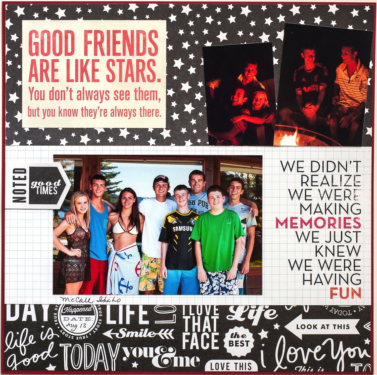 Scrapbook ideas newspaper articles - The Great Outdoors Scrapbook Layouts