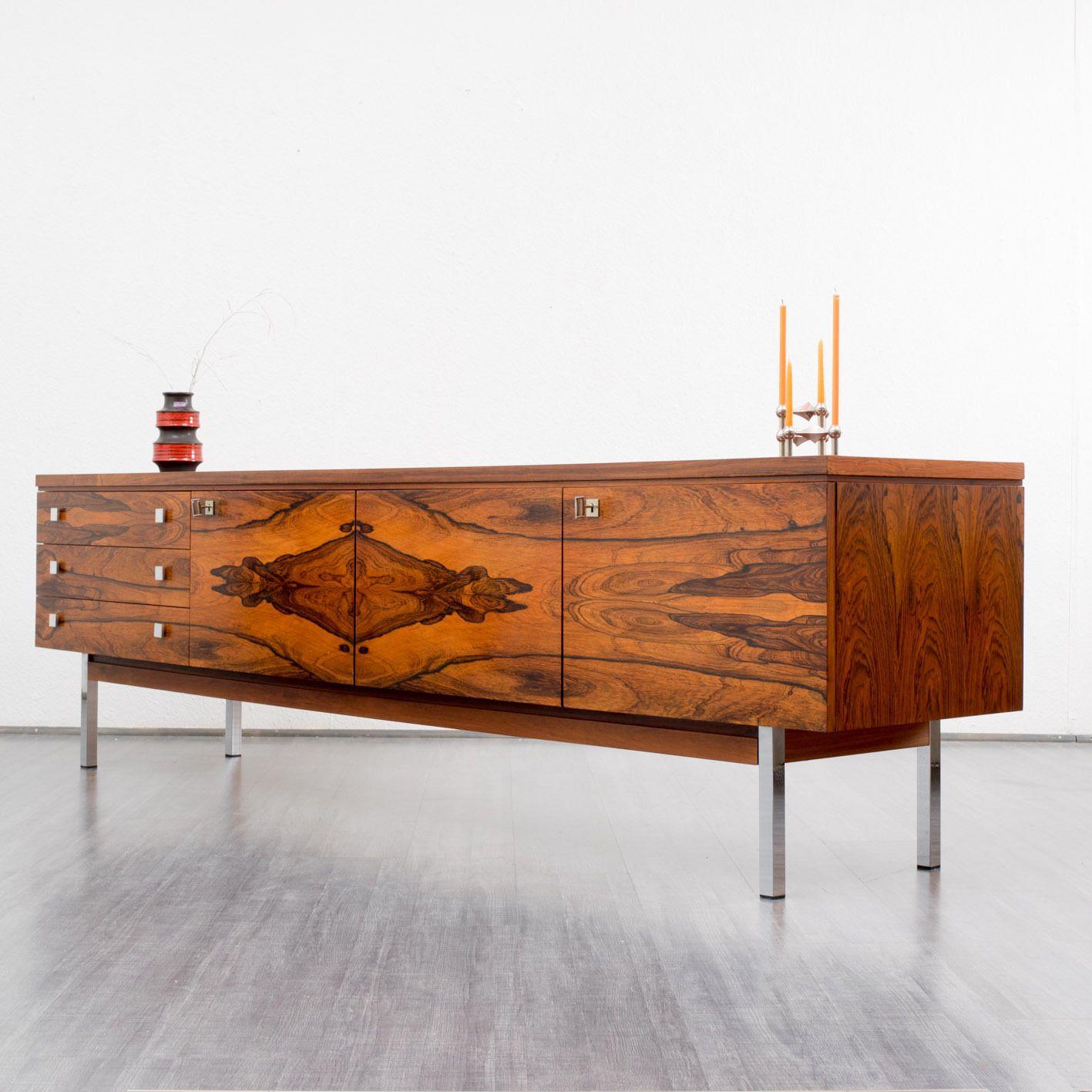 1500 euros 60er Deluxe Sideboard mit tollem Palisander Furnier ...