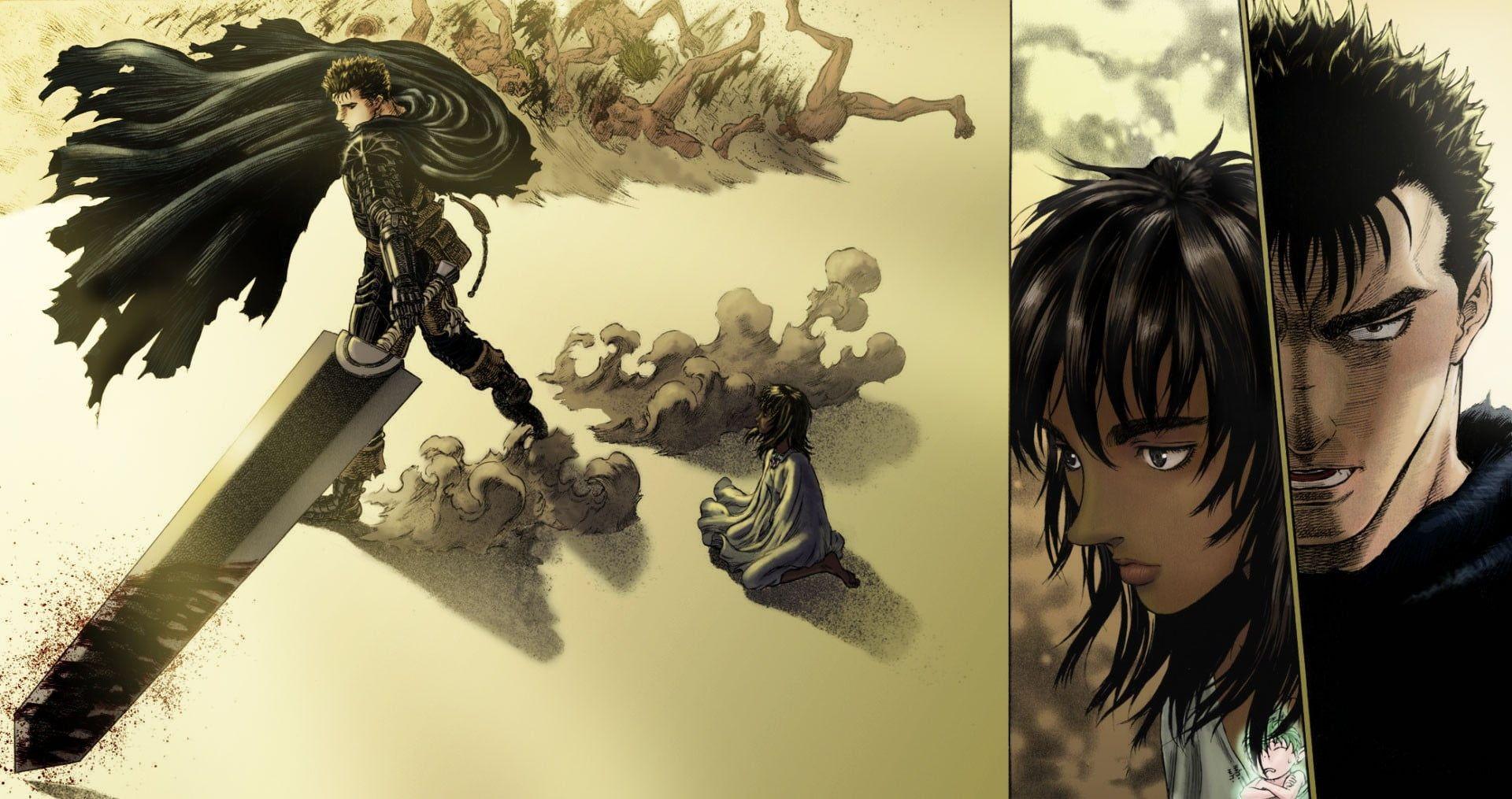 man holding large sword wallpaper Berserk Guts manga