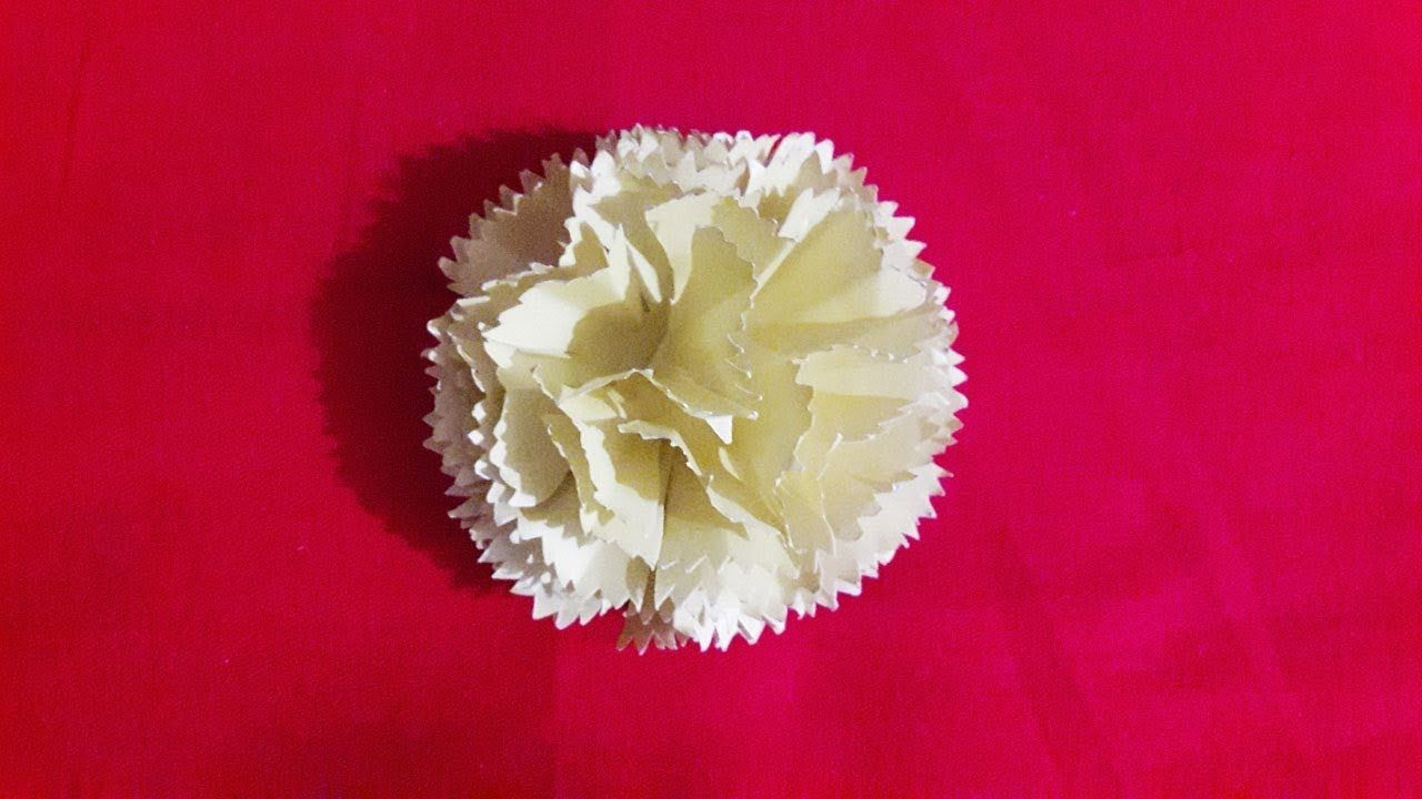 Easy Origami Flowers For Beginners Making How To Make Carnation