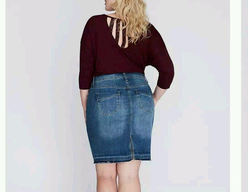 Details about NWT Lane Bryant Denim Skirt Plus Size 16 | Plus size ...