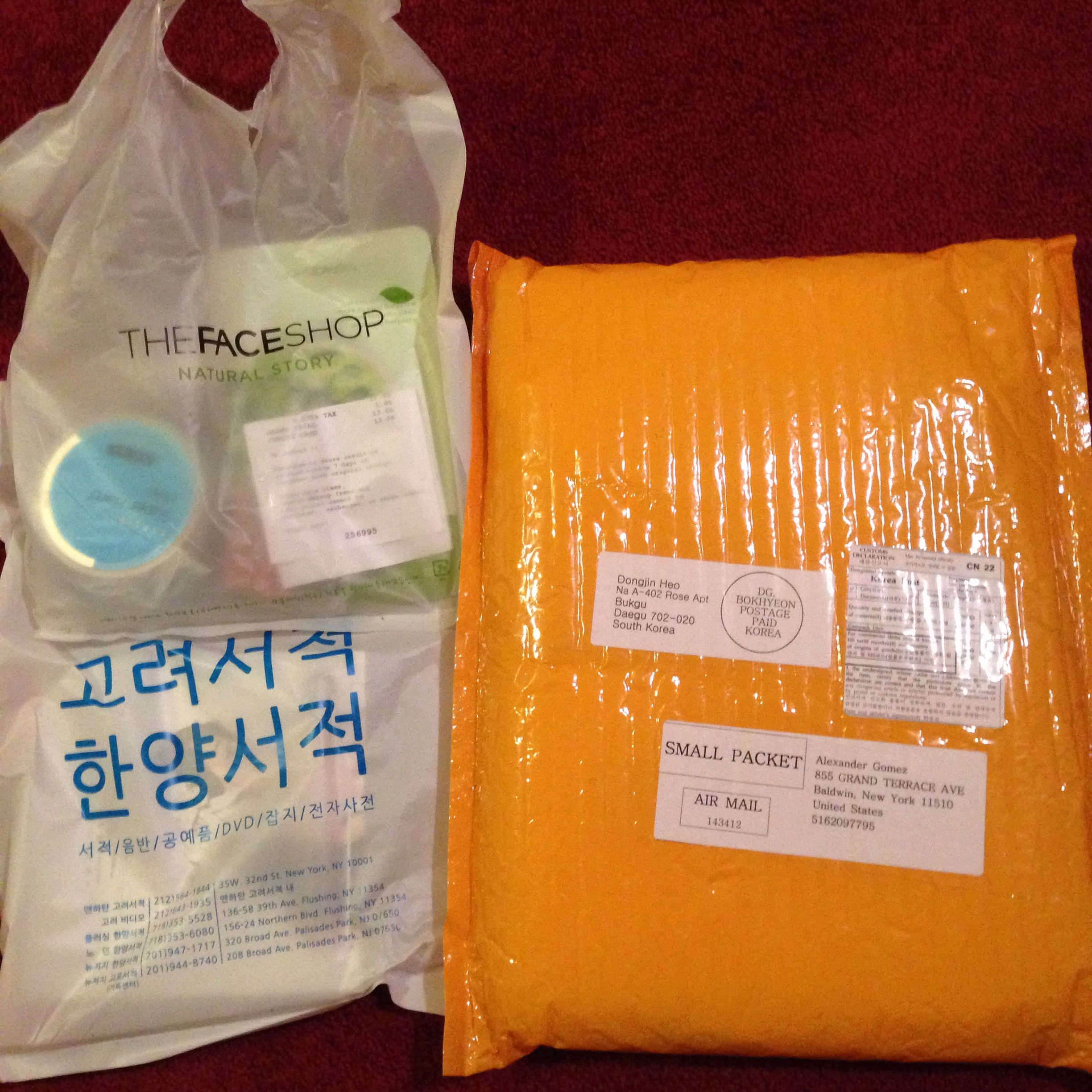 So Bought Some Albums From Koryo Bookstore And Products From The Face Shop Wait And A Package In The Mail From Kpoptown The Face Shop Summer Goals Packet