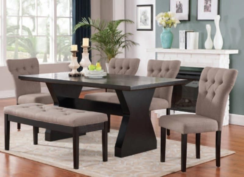 Acme Furniture  Effie 6 Piece Dining Table Set In Espresso Stunning Espresso Dining Room Sets Decorating Inspiration