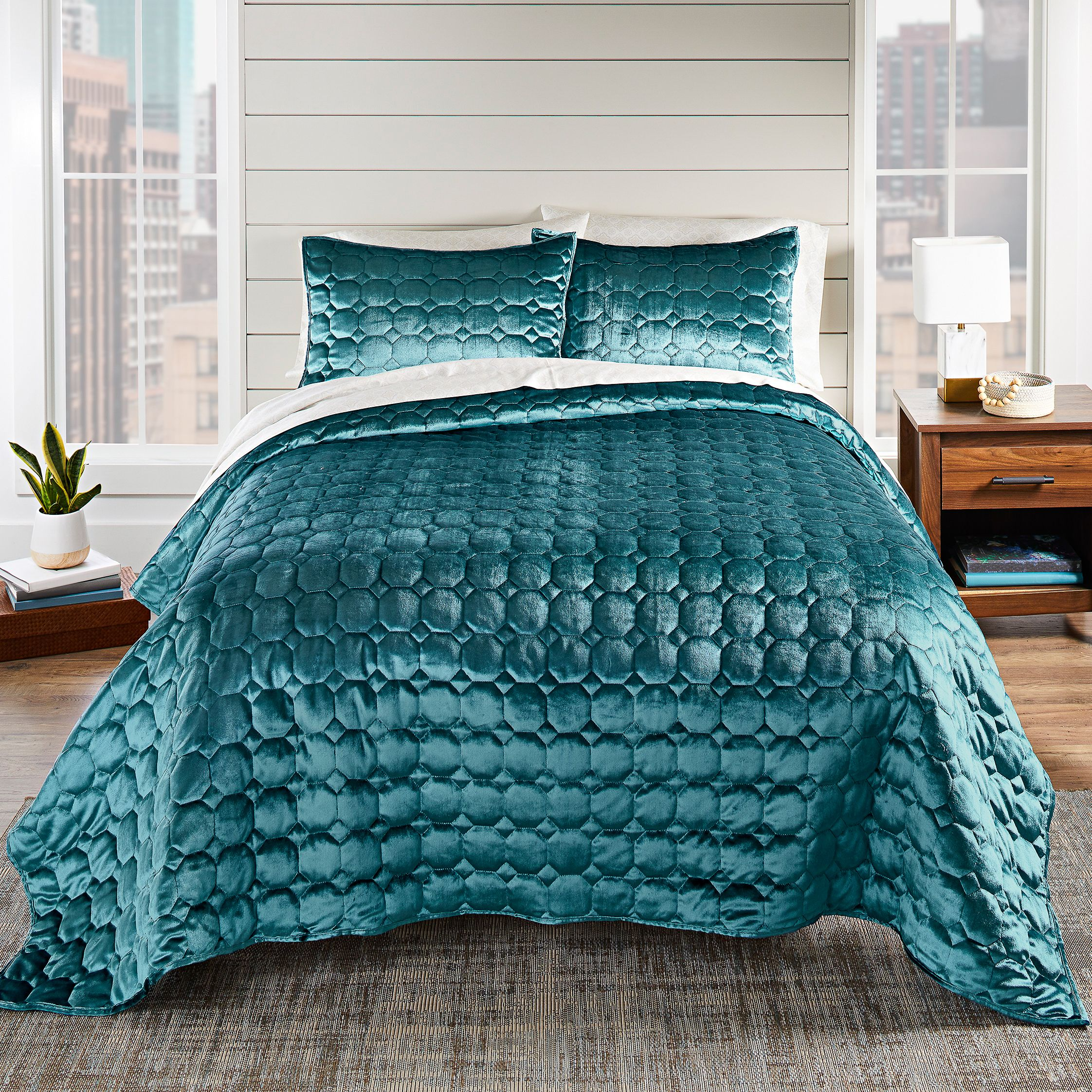 ebd5fa4e9bb0606d5ff7aa659b65159a - Better Homes And Gardens Pleated Diamond Quilt Collection