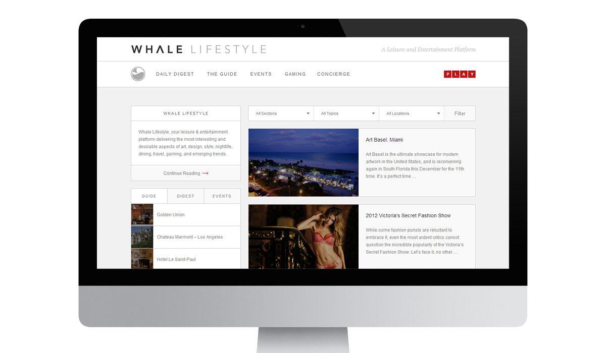 Elevn Co. / Whale Lifestyle Website & Identity