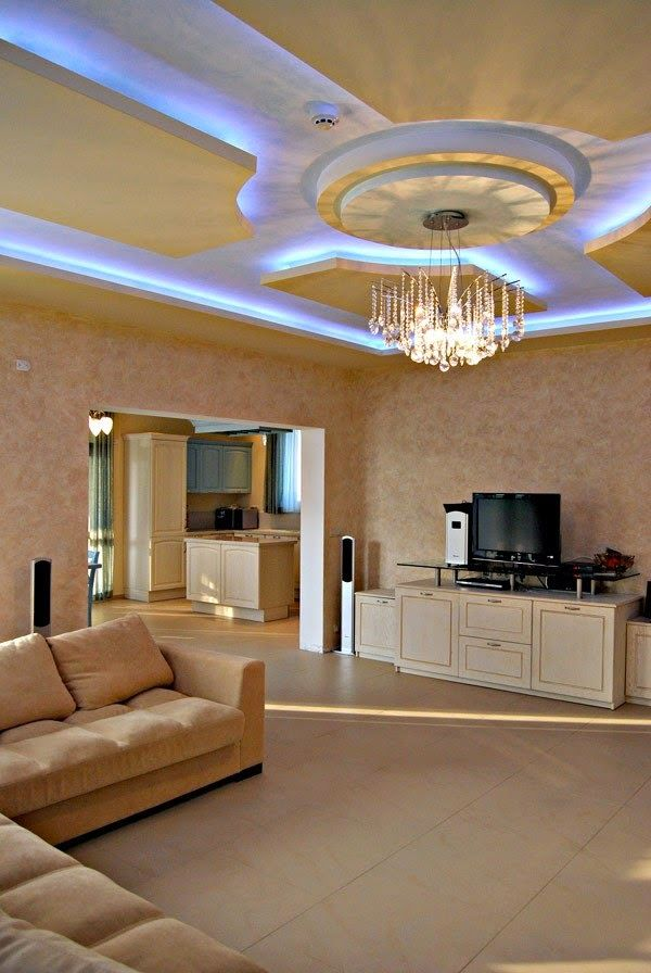 25 Creative LED ceiling lights are built in suspended ceiling - led design wohnzimmer