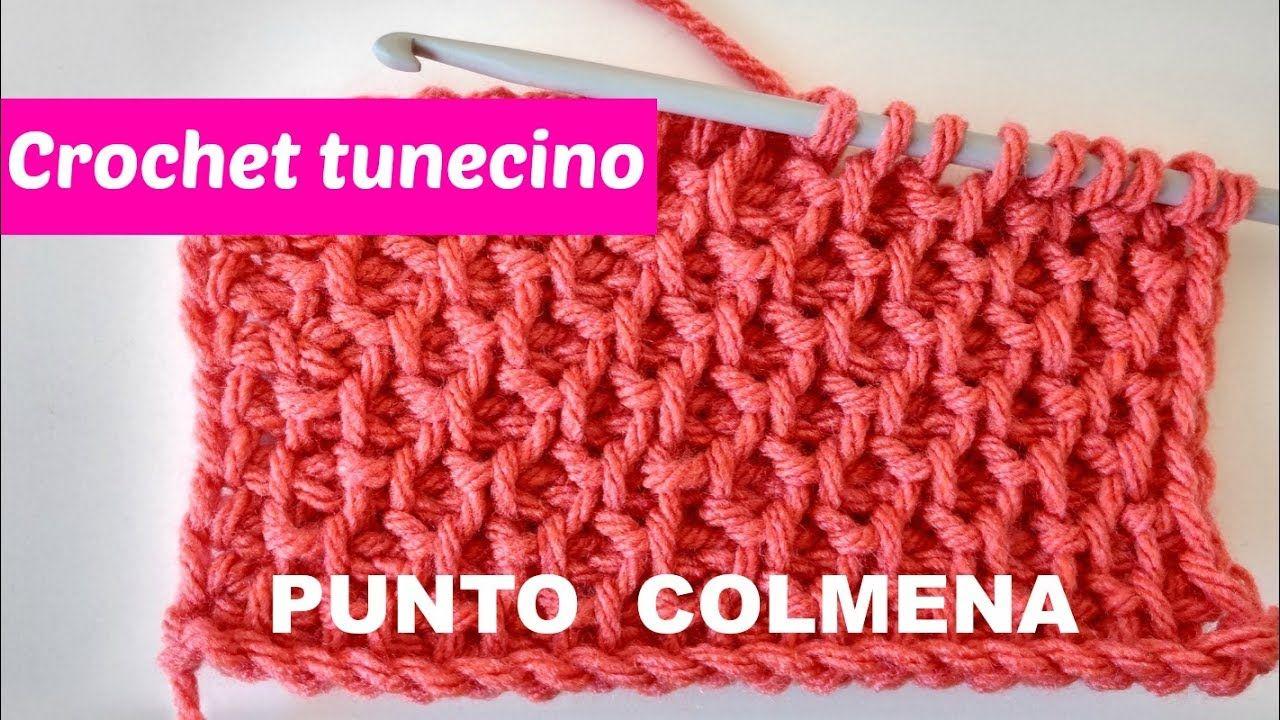 Crochet tunecino punto colmena | CROCHET Y PUNTO | Pinterest ...