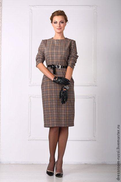 85a85ac4fbdc00d Платье - футляр. Платье – футлярв клетку . Платье стильное и не обычное,  прекрасно