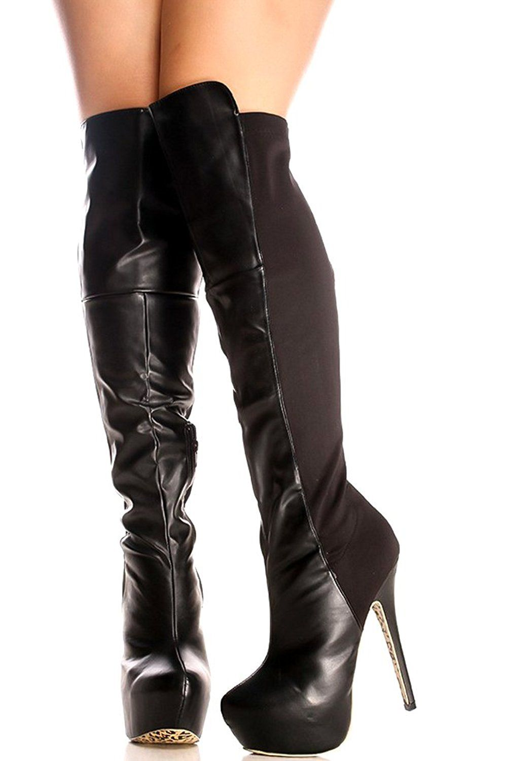 9f2d99d4e90 Lolli Couture SUEDE MATERIAL SIDE ZIPPER BELT ACCENT KNEE HIGH HEEL PLATFORM  BOOTS -- This is an Amazon Affiliate link. Check out this great product.