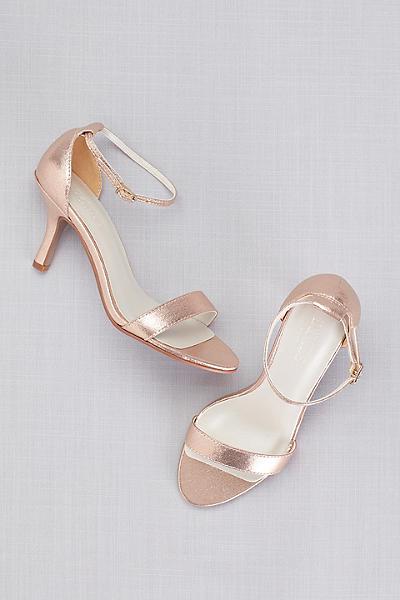 Single Strap Sandal Nayomi Gold Wedding Shoes Rose Gold Shoes Cheap Wedding Shoes