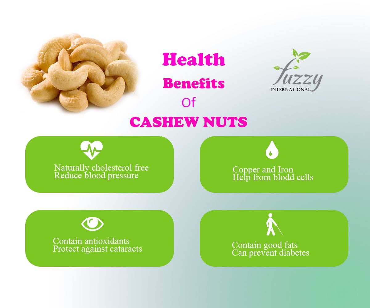 Health Benefits of Cashew Nuts Good fats, Cashew