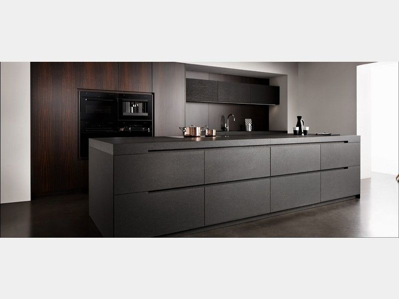 eggersmann unique k che komplett nero assoluto matt holz eukalyptus noble veneer kitchen. Black Bedroom Furniture Sets. Home Design Ideas