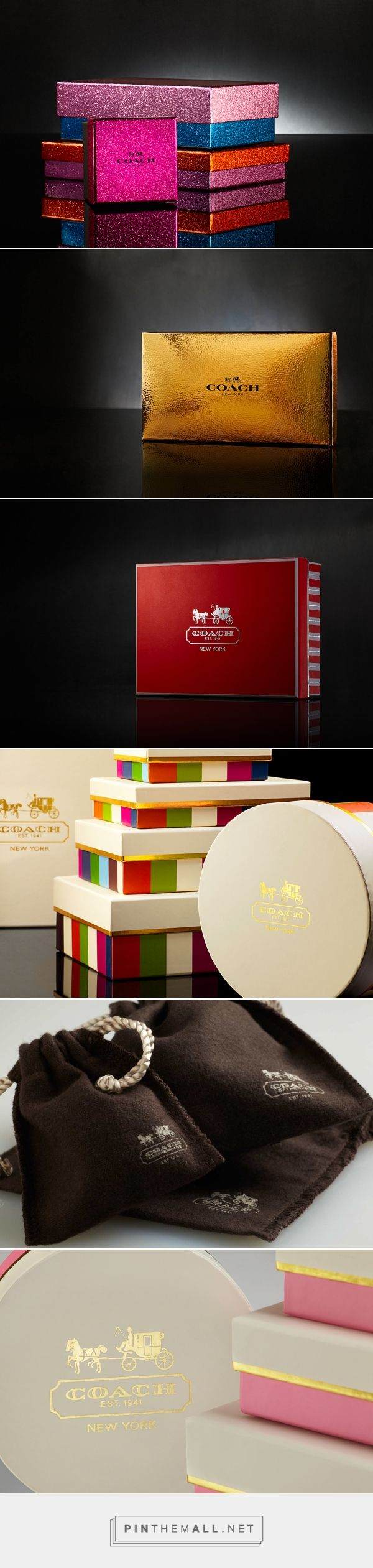 Coach holiday retail packaging via Design Packaging curated by Packaging Diva PD. Who wants to go shopping at Coach now?