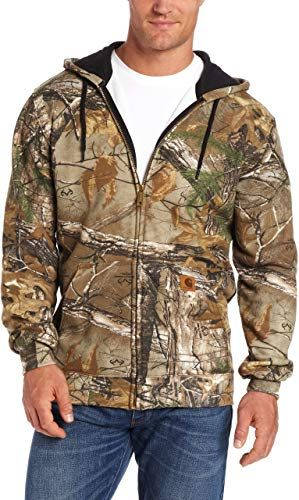 new carhartt men s midweight sweatshirt work camo hooded on men s insulated coveralls with hood id=16321