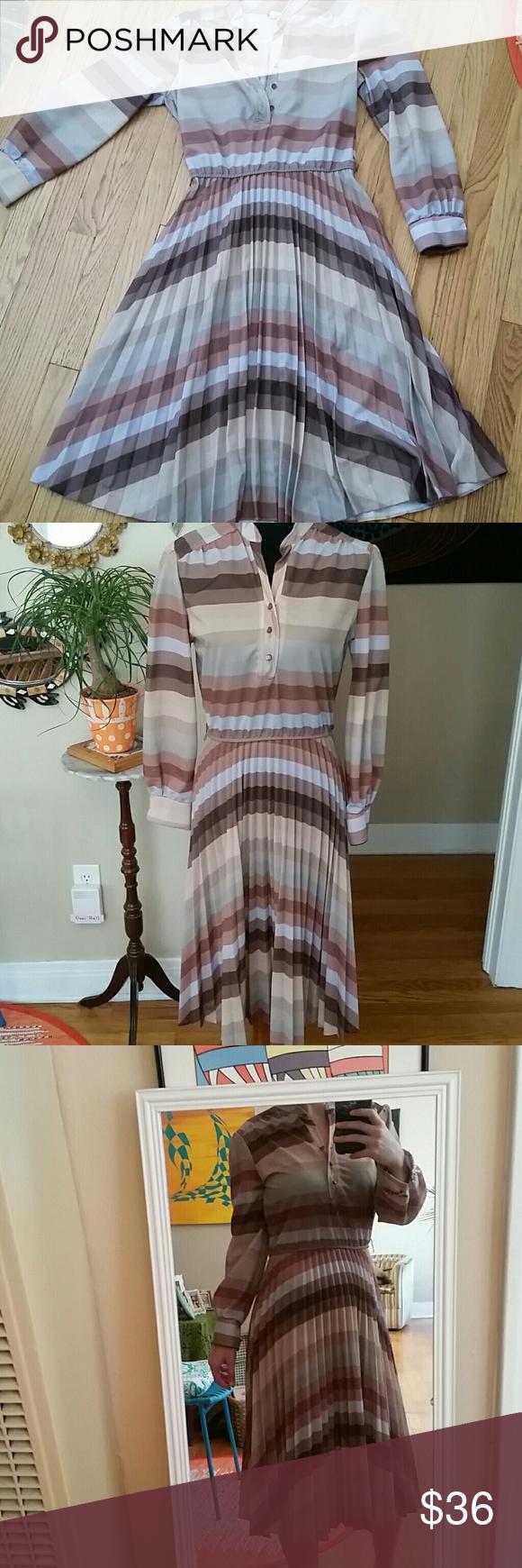 1970s Plaid /& Poly Midi Dress 1960s