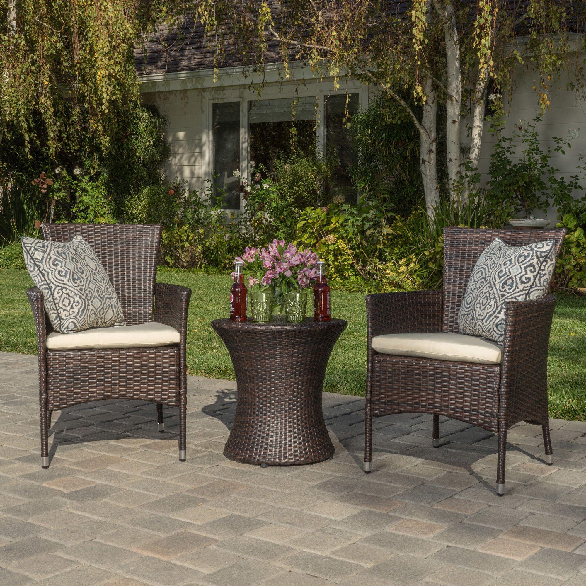 lockard 3 piece conversation set modern outdoor products