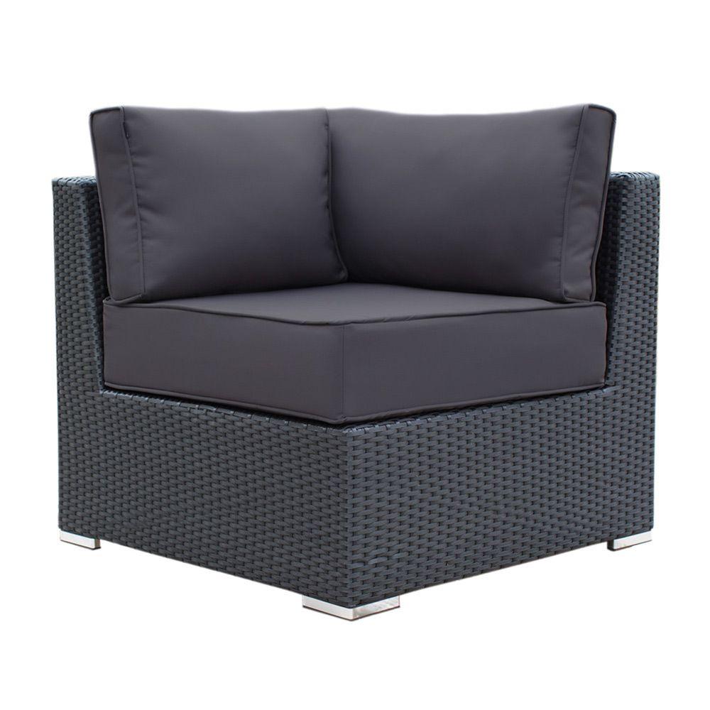 Buy Luxo Maho Corner/Side Arm Sofa - Black Online ... on Luxo Living Outdoor id=43529