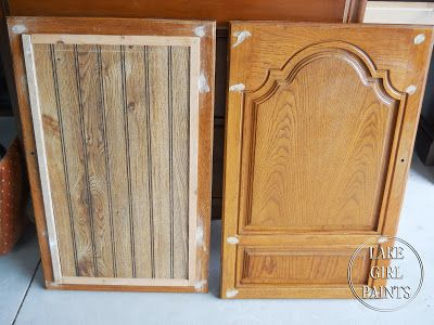 Finally Found A Way To Update Those 80s Arched Cabinet Doors