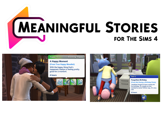 Meaningful Stories Mod By Roburky In 2020 Sims 4 Challenges Sims 4 Sims