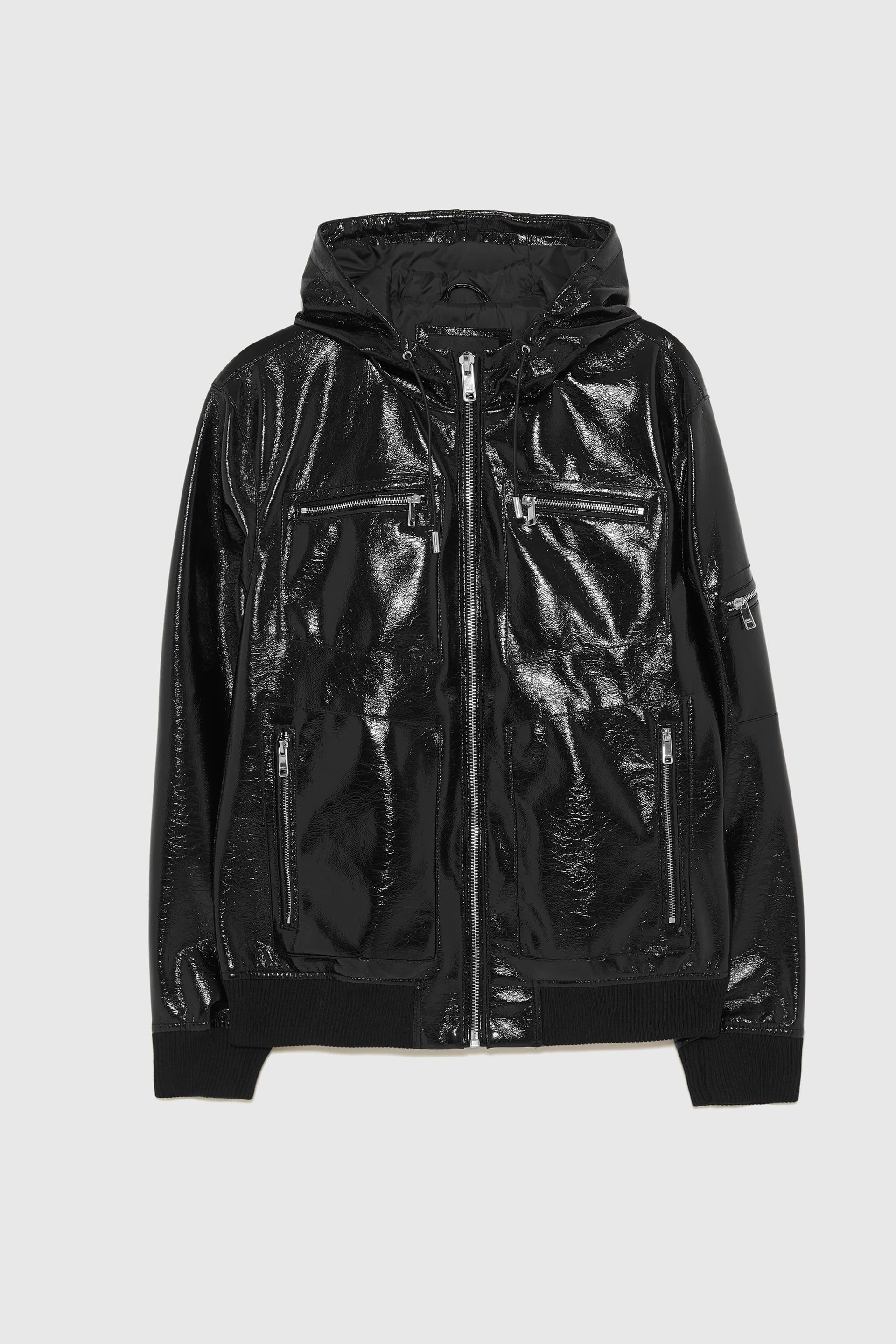 Faux leather jacket with hood (With images) Leather
