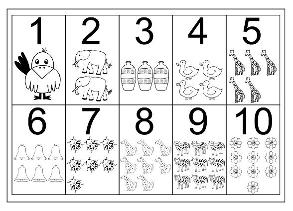 Rakam Boyama Sayfaları Boyama Numbers Preschool Free Printable