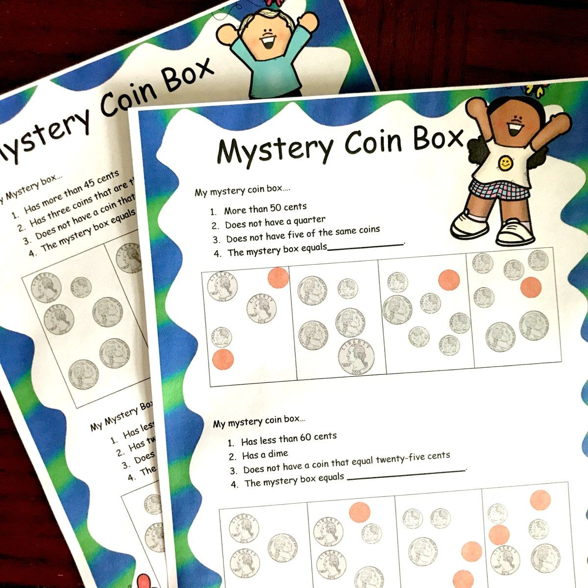 2 Free Counting Coin Worksheets With A Fun Twist In