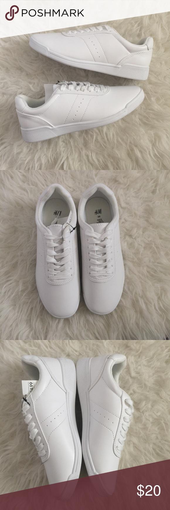 H\u0026M white tennis shoes. New white
