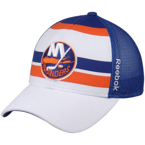 new concept bcfa6 ab0cd New York Islanders Reebok NHL Ice Basket Snapback Cap Hat Trucker Stripes  Mesh  Reebok  NewYorkIslanders