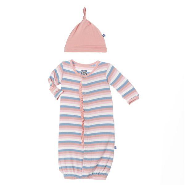 Kickee Pants Ruffle Gown Converter Set in Salty Sea Stripe | Bamboo ...